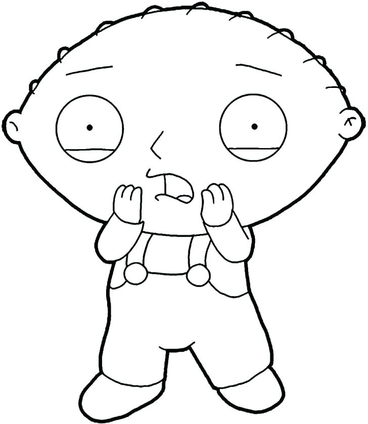 728x839 Stewie Coloring Pages Gangster Stewie Coloring Pages