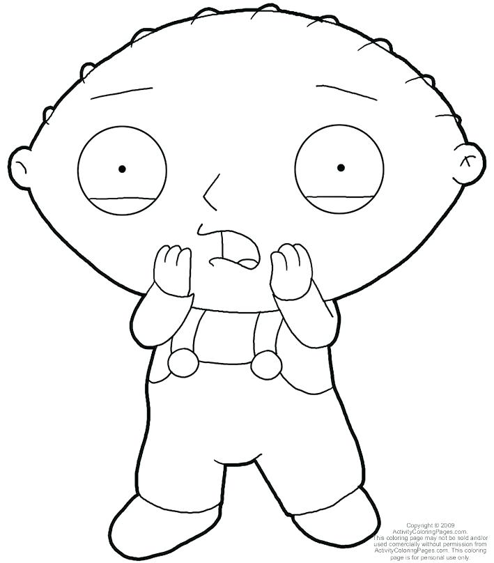 709x808 Stewie Griffin Coloring Pages Family Guy Coloring Pages