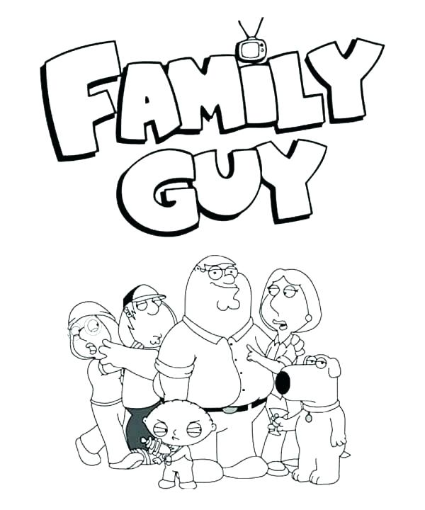 600x720 Peter Griffin Colouring Pages Coloring Of Families For Your Family