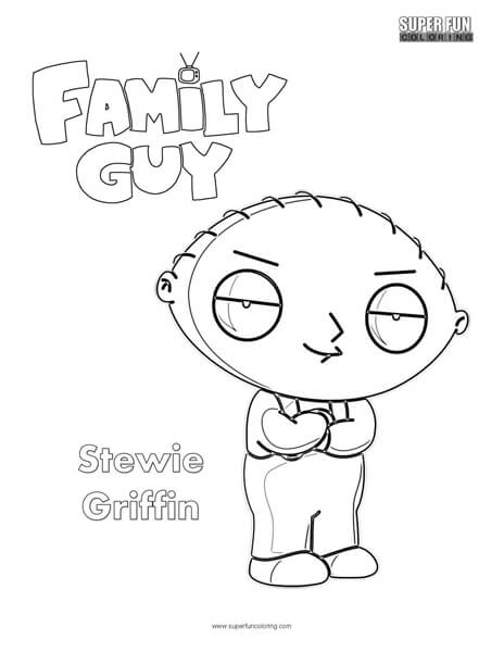464x600 Stewie Griffin Family Guy Coloring Page