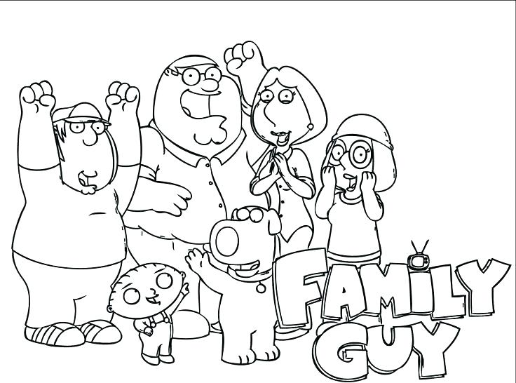 736x546 Stewie Griffin Colouring Pages Coloring Colori Family Guy Images