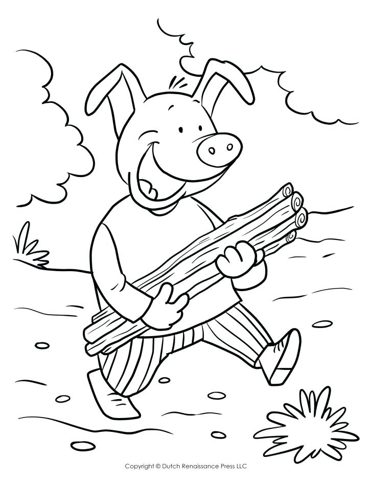 728x942 Pig Coloring Pages With Adult Book For Children Fun Page Stick Pig