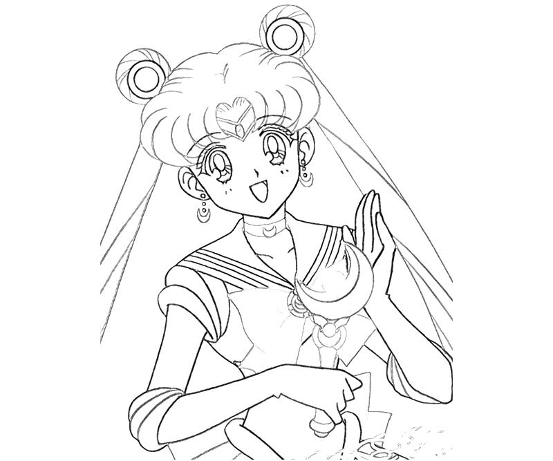 800x667 Sailormoon With Moon Stick Coloring Page Cute Pages