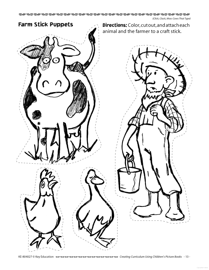 685x886 Click Clack Moo Cows That Type Coloring Pages Click Clack Moo