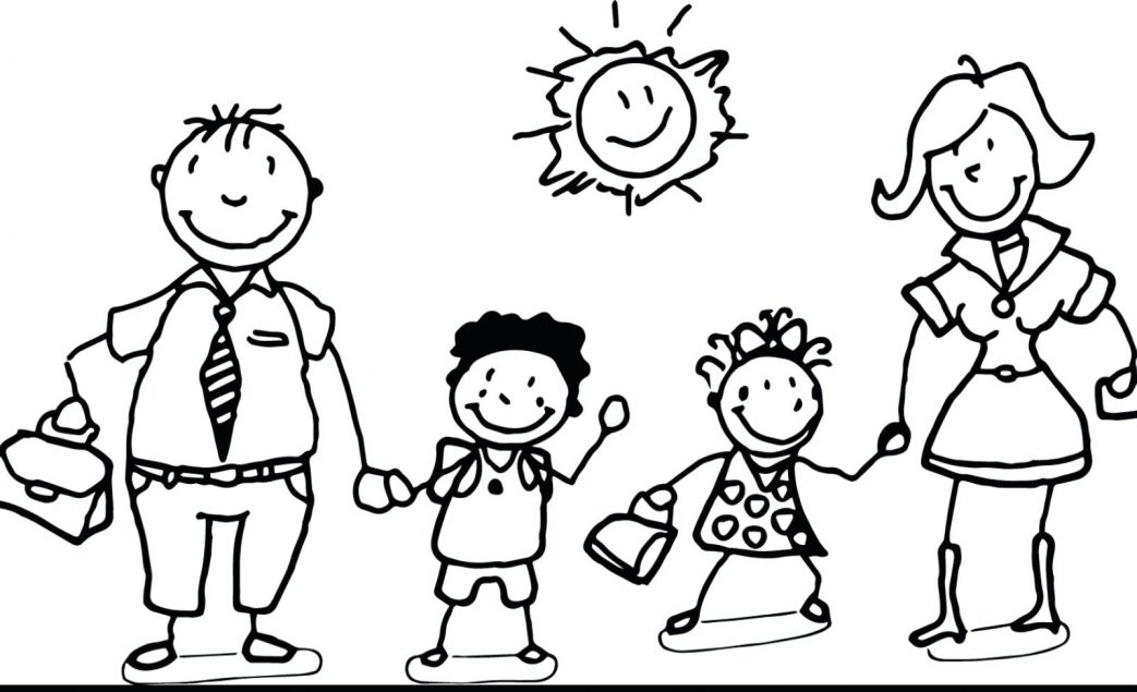 1043x635 Free Coloring Pages Family Tree Stick Figure Page Printable My