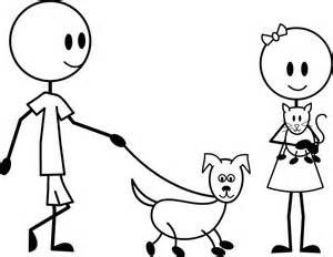 300x232 Man Walking With Dog Coloring Page Coloring Pages Stick Pick