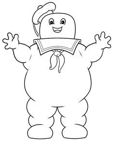 236x297 Ghostbusters Stay Puft Marshmallow Man Coloring Pages Sketch