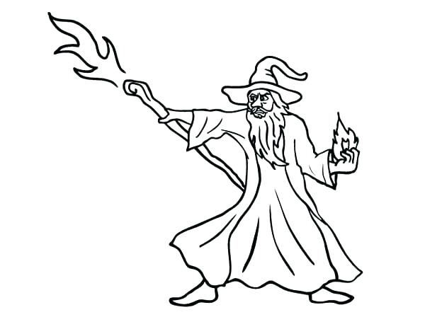 600x448 Wizard Coloring Page Wizard Coloring Page The Wizard Attack