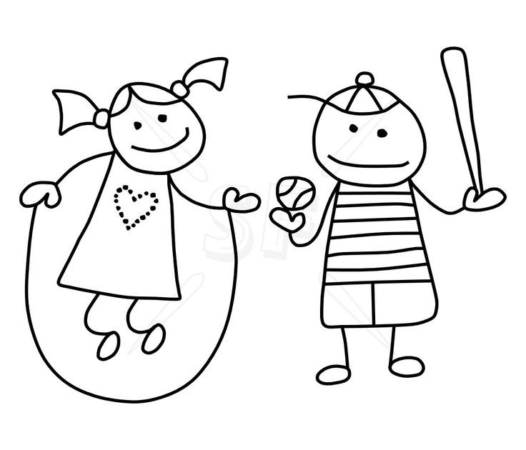 Stick People Coloring Pages