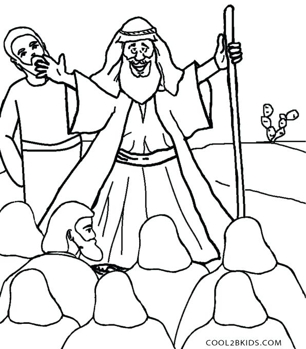 596x680 Moses Coloring Pages Red Sea Crossing And The Red Sea Coloring