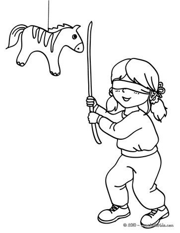 363x470 Birthday Pinata Coloring Pages