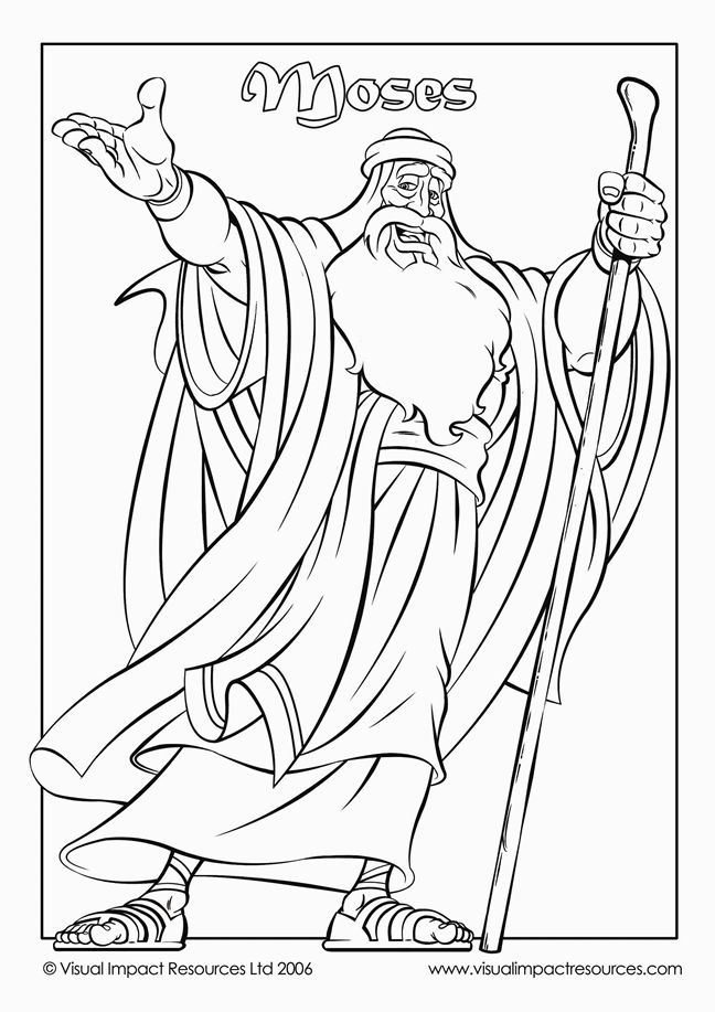 648x917 Moses Coloring Pages==good Moses Page, Could Be Colored, Cut Out