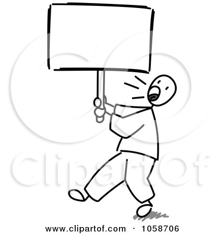 450x470 Royalty Free Vector Clip Art Illustration Of A Stick Man