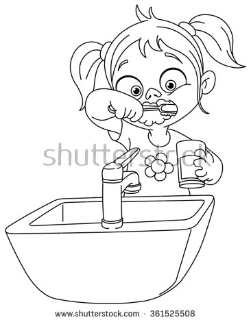 366x470 Stick Figure Brushing Teeth Image Information