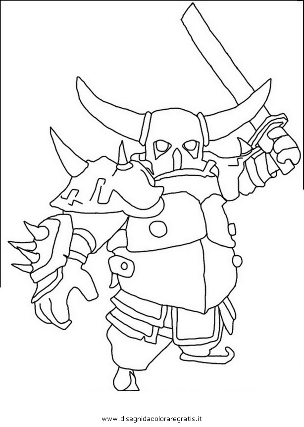 614x860 Clash Of Clans Pekka Coloring Pages, Clash Of Clans Goblin