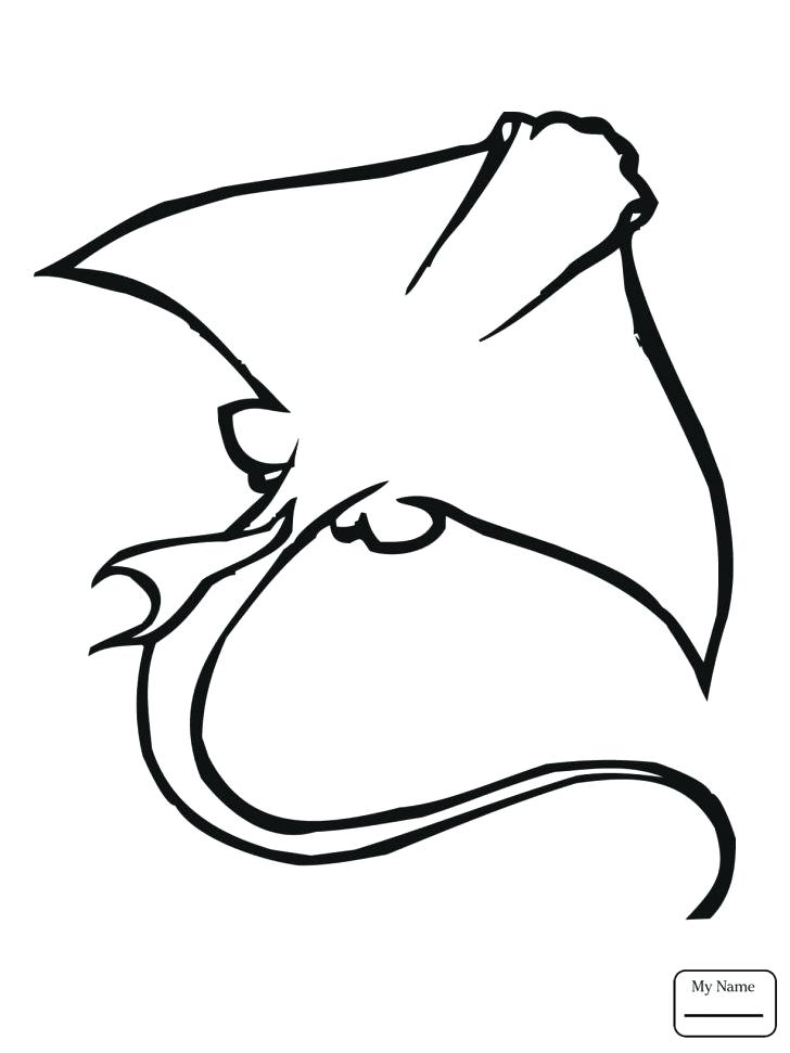 728x971 Stingray Coloring Pages Medium Size Of Stingray Coloring Page
