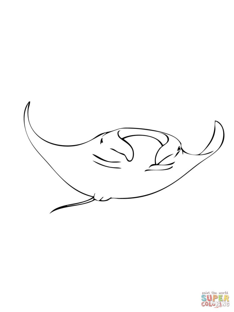 768x1024 Excellent Sting Ray Coloringges For Kids Stingray Printable Freege