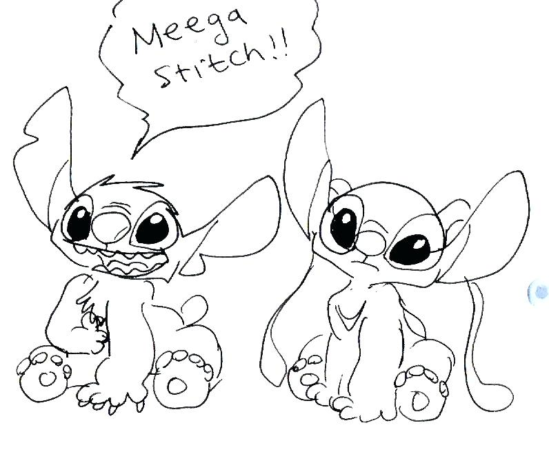stitch and angel coloring pages 35