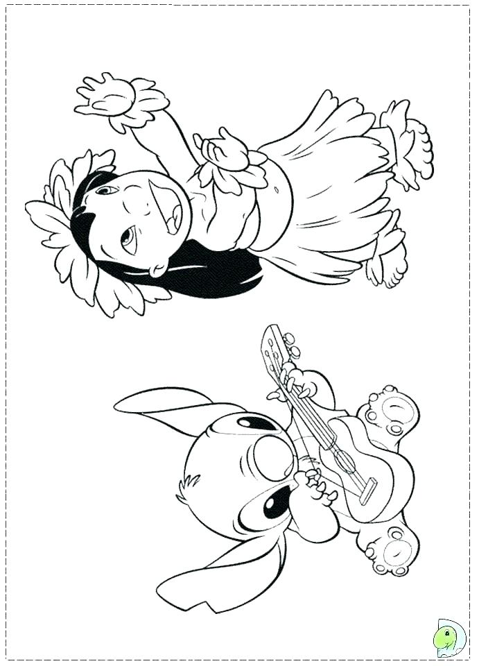 stitch and angel coloring pages 5