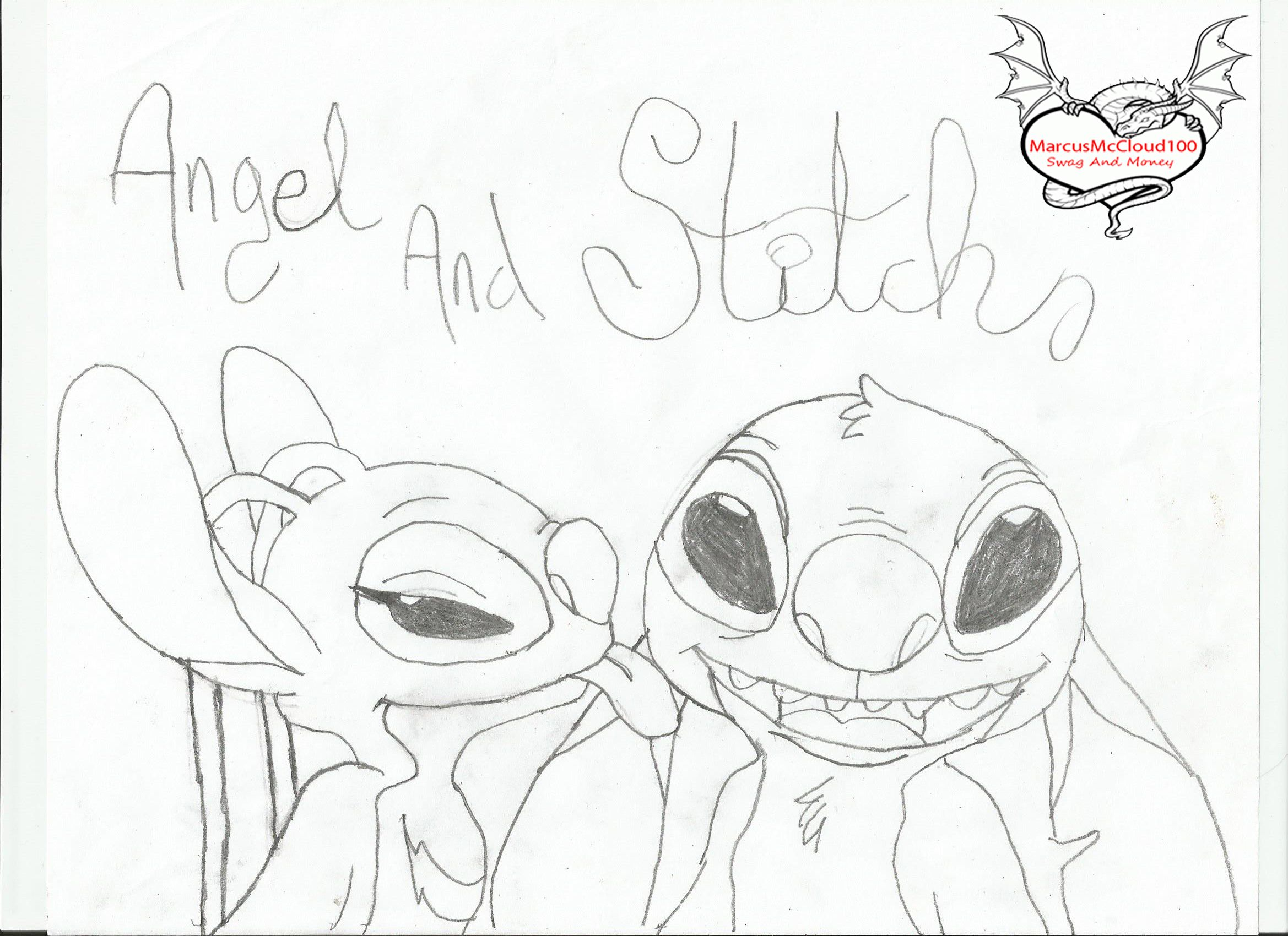 stitch and angel coloring pages 8