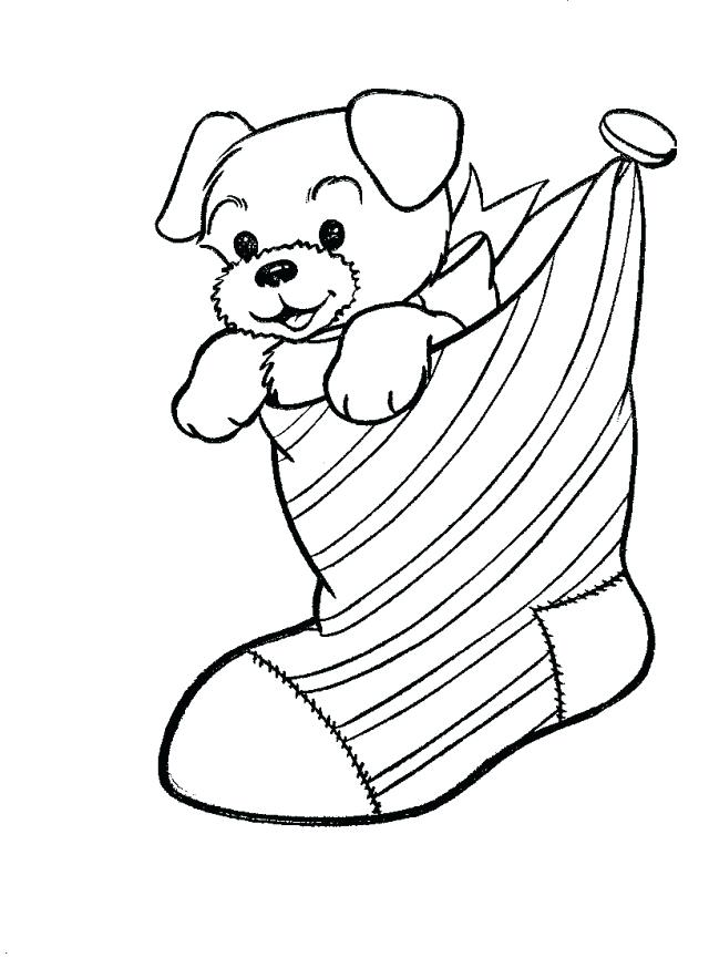 640x865 Christmas Stocking To Color Inspirational Puppy Dog In Stocking