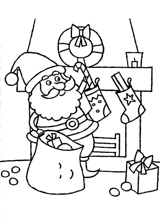 518x713 Stocking Coloring Page Stockings Coloring Pages Little Puts Some