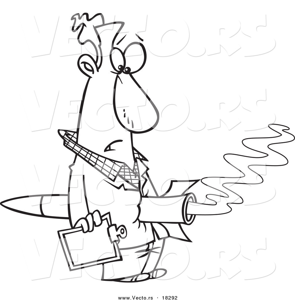 1024x1044 Vector Of A Cartoon Rocket Through A Man's Stomach