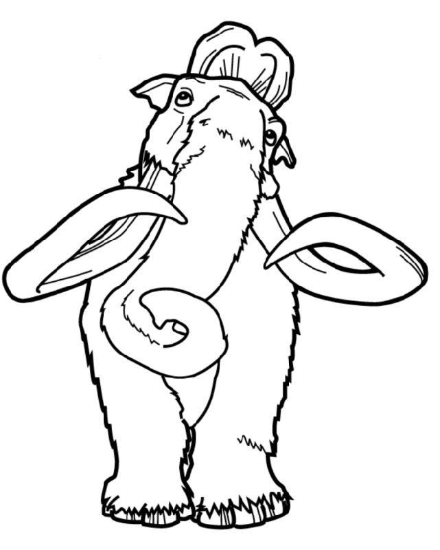 641x800 Ice Age Confusion Ice Age Coloring Pages Ice Age