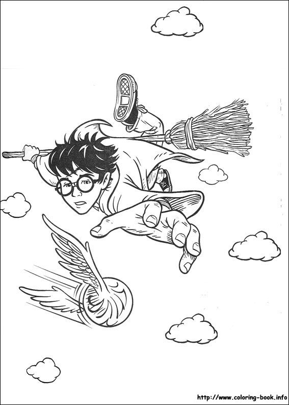 567x794 Harry Potter Coloring Pages