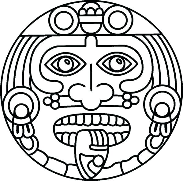 598x593 Inca Coloring Pages Coloring Pages Calendar Vector Calendar Stone