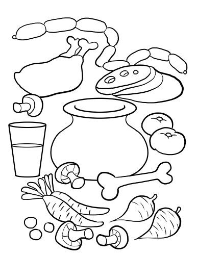 386x500 Stone Soup Coloring Page For Kids Stone Soup Written