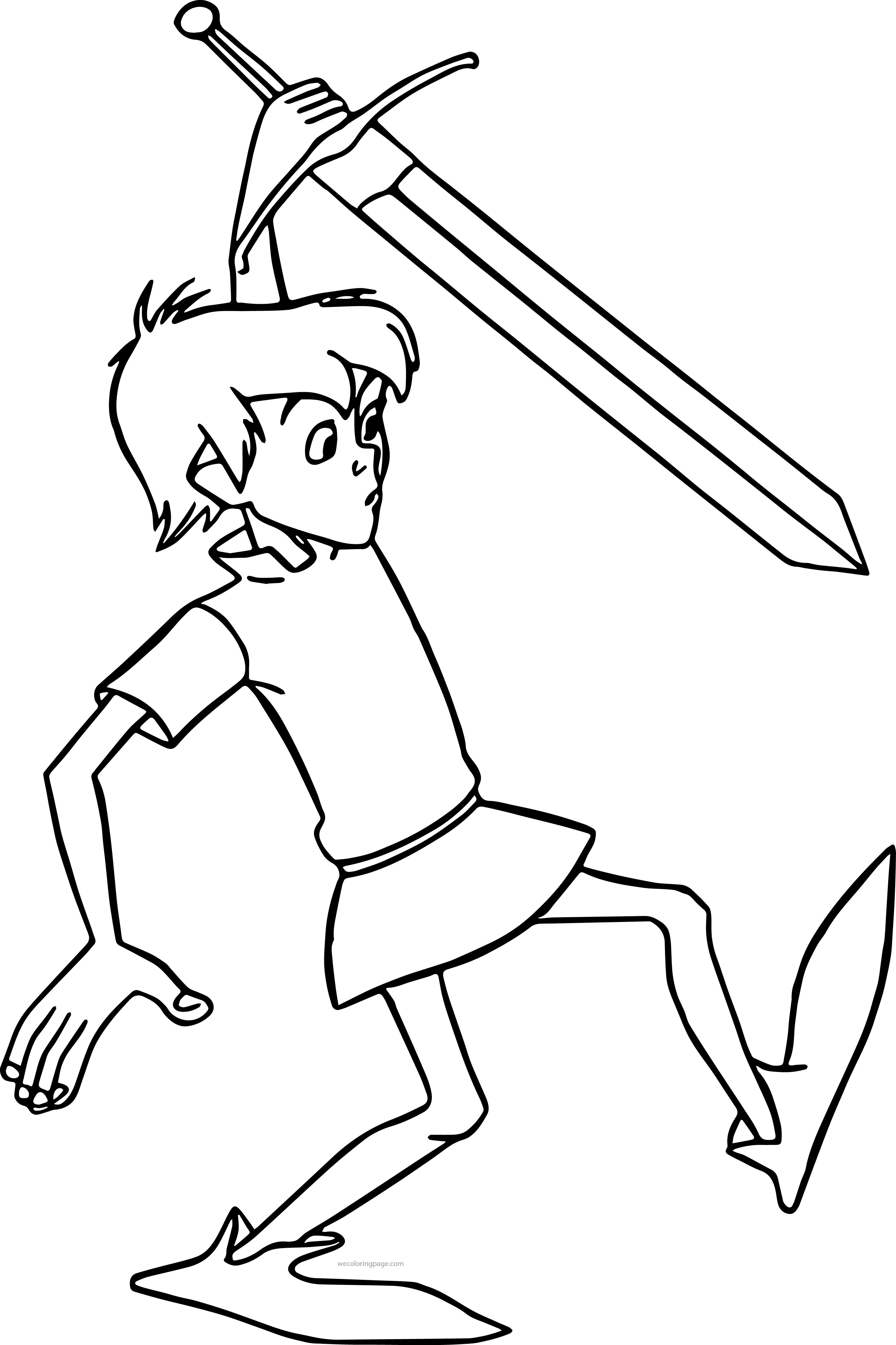 2971x4458 The Sword In Stone Arthur Coloring Pages S On Sword And The Stone
