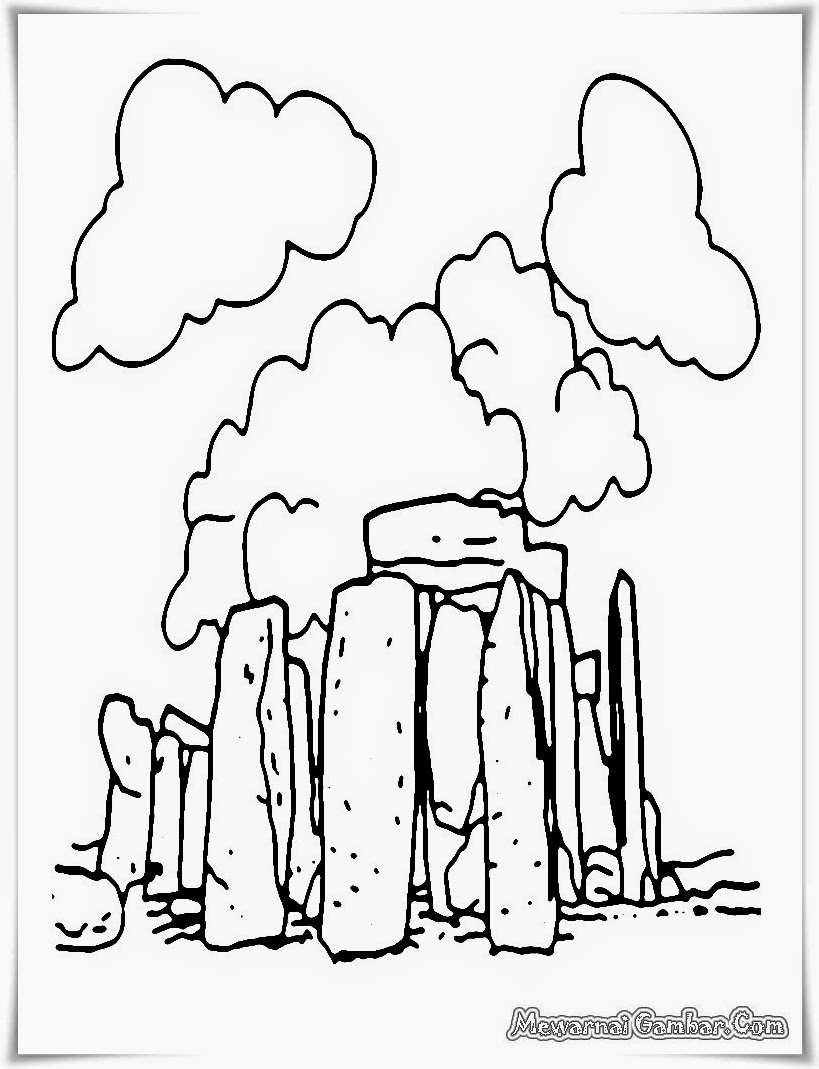 Stonehenge Coloring Page At GetDrawings
