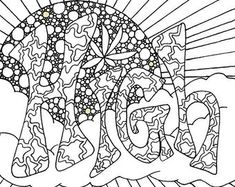 235x187 Free Stoner Coloring Page From Chronic Crafter Drugz Coloring