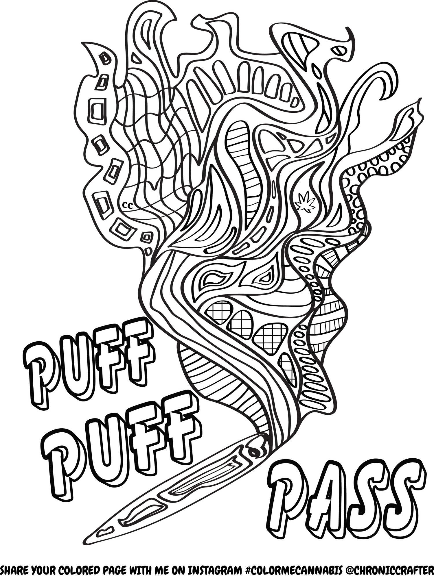 1500x2000 Free Stoner Coloring Page From Chronic Crafter Drugz Coloring