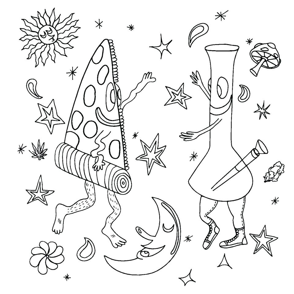 960x960 Important Stoner Coloring Pages Printable Nice
