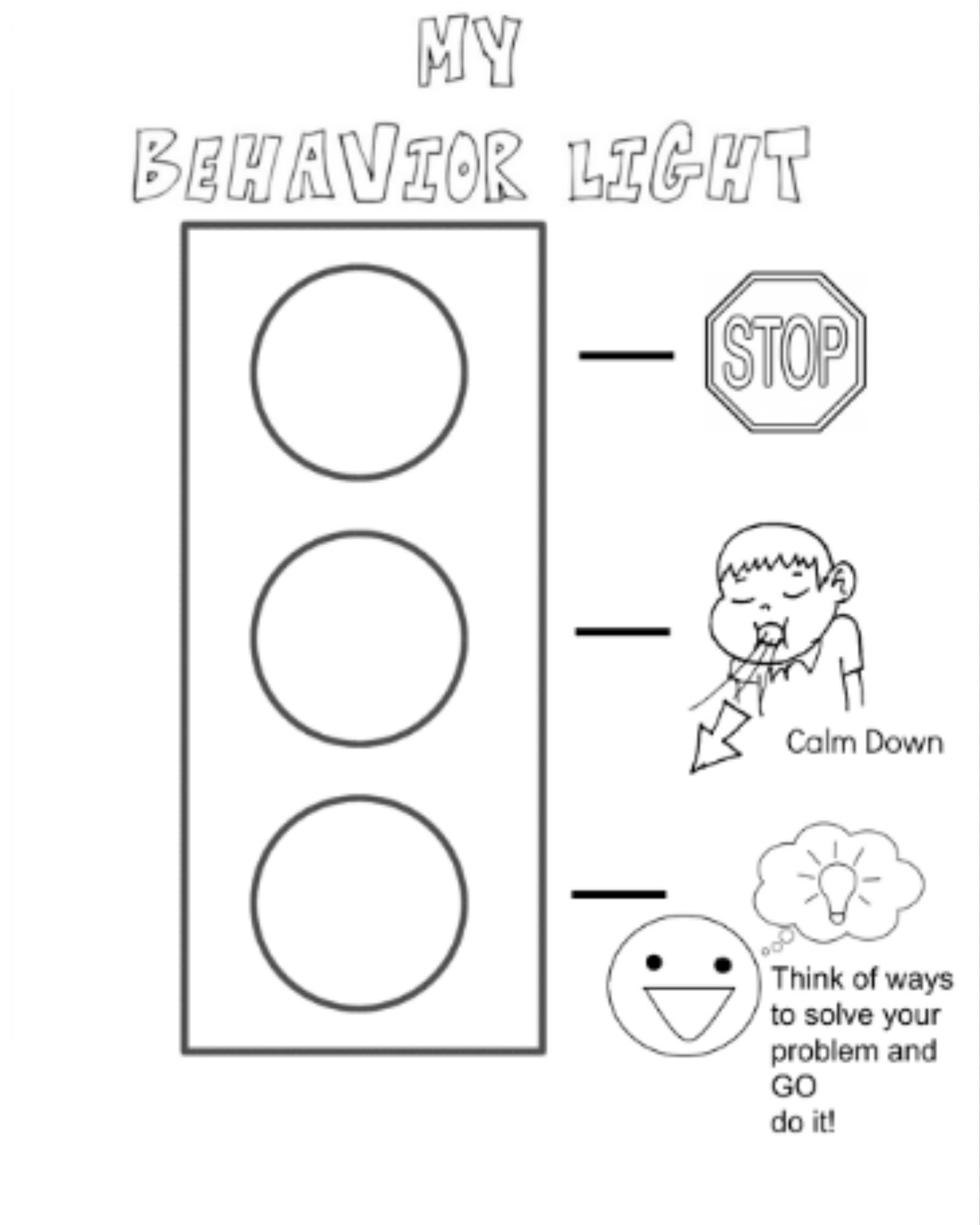 1600x2000 Behavior Stop Light Coloring Page I Created For My Kiddos When You
