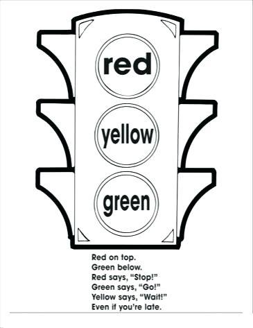 365x473 Stop Light Coloring Page Unique Crayola Throughout Idea