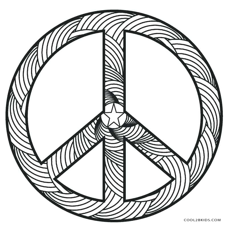 800x800 Stop Sign Coloring Page Free Printable Peace Sign Coloring Pages