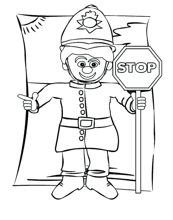 600x761 Stoplight Coloring Page
