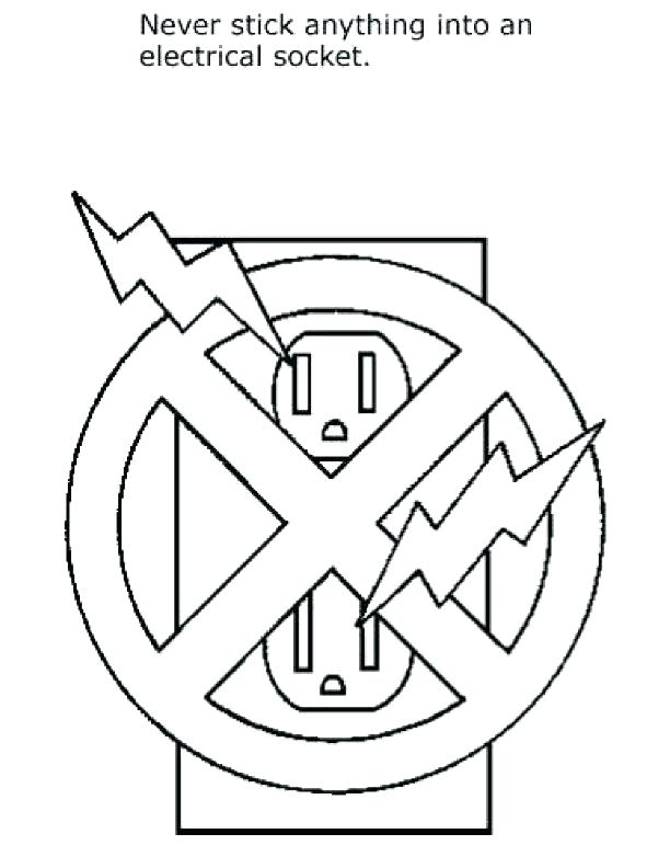 612x792 Coloring Traffic Light Coloring Page Stop Safety Signs