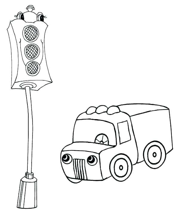 600x712 Garrett Morgan Coloring Page Traffic Light Coloring Page Garrett