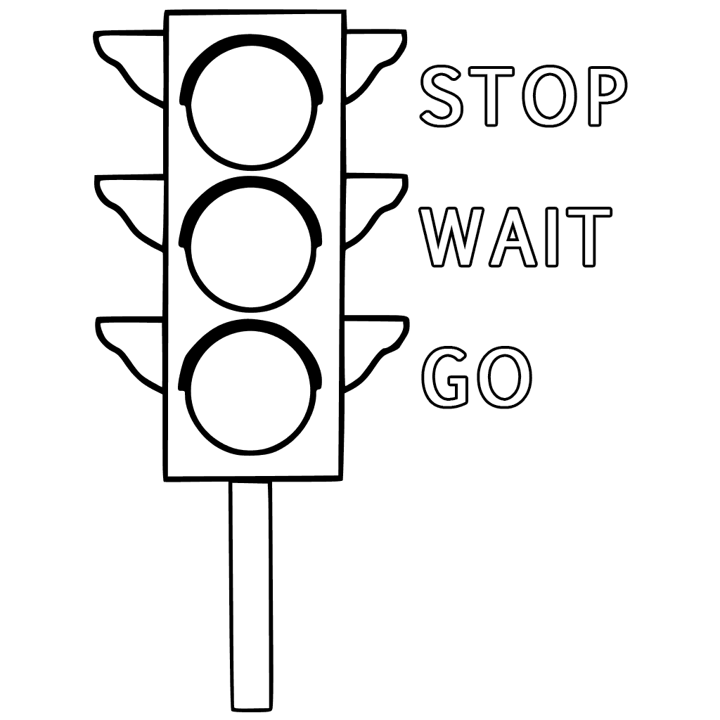 1024x1024 Sign Traffic Light Coloring Page