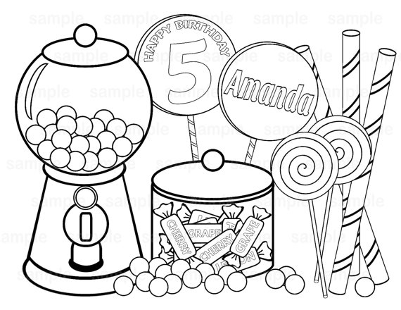570x440 Candy Store Coloring Pages