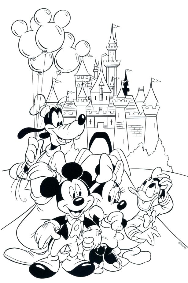 Minnie In Dept Store Disney Fcd2 Coloring Pages Printable | 923x615