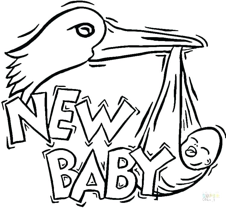 750x689 Stork Coloring Pages