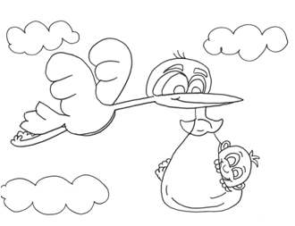 330x253 Printable Babies Bedtime Coloring Pages