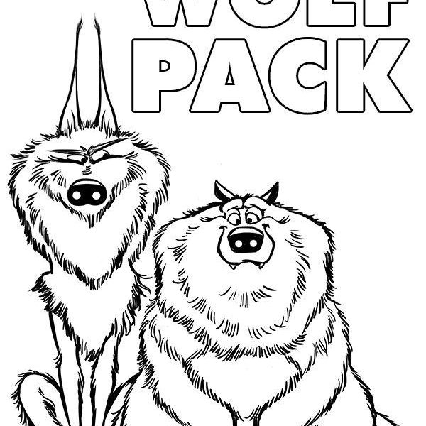 600x600 Stork Coloring Pages The Wolf Pack From Movie Storks Coloring