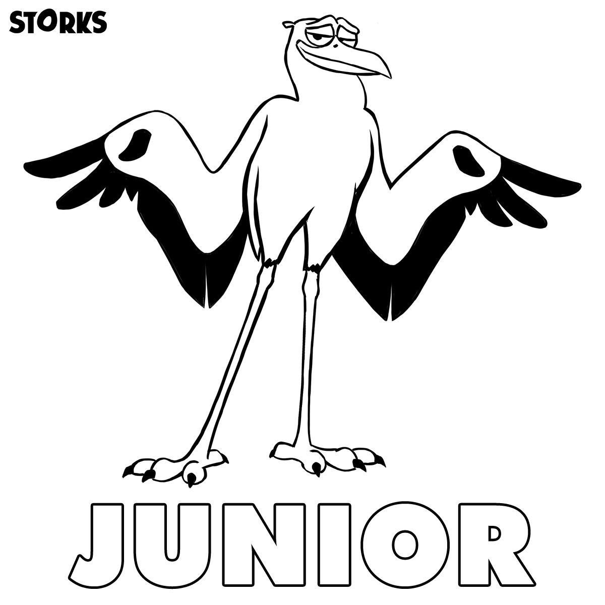 1200x1200 Storks Coloring Pages