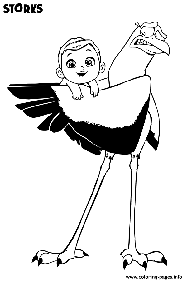 600x900 Storks Movie Free With Baby Coloring Pages Printable